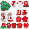 NEW Cute Dog Puppy Christmas Santa Warm Costumes Coat Clothes Pet Apparel Shirt