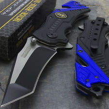 """7.5"""" POLICE GLASS BREAKER SPRING ASSISTED TACTICAL FOLDING KNIFE Blade Pocket"""