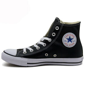 Converse Unisex Chuck Taylor All Star Hi Leather NEW AUTHENTIC Black 132170C