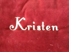 """Pottery Barn Red Channel Quilted Christmas Stocking """"KRISTEN""""  New!"""