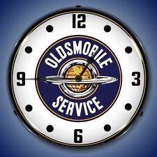 New vintage car dealer style Oldmobile Service advertising LIGHTED clock 🇺🇸