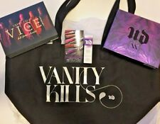 Urban Decay VICE XX Lipstick & Eyeshadow Palette + Large Tote Bag 5PC Gift Set