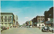 Broadway Looking North in Fargo ND Postcard