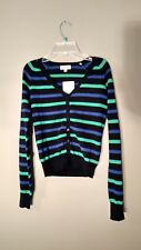 AMBIANCE YOUNG LADIES LONG SLEEVE LIGHTWEIGHT CARDIGAN SWEATER TOP - SIZE S