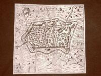 Lucca Incisione all'acquaforte del 1665 Nova descrittione di Francesco Scoto