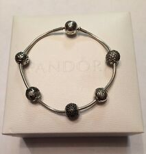 "Authentic PANDORA ESSENCE Collection 7.9""/20cm  Bracelet with Charms & Box!!"