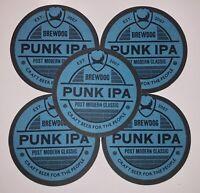 5 Punk IPA Beer Mats  - Home Bar / Home Pub