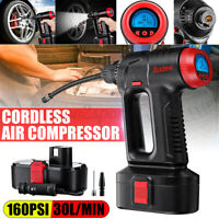 Portable Digital LCD Cordless Car Tyre Inflator Pump Tyre Air Compressor 160PSI