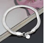 Women's Silver Filled Simple Rope Flat Snake Chain Bracelet / Anklet Jewellery
