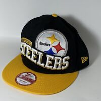 Pittsburgh Steelers Hat Team 9Fifty Adjustable M/L Snapback Cap New Era NWT NFL