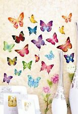 21 Set Wandtattoo Wandstickers Wanddeko 3D Schmetterlinge Wandaufkleber