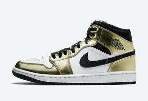 Nike Air Jordan 1 Mid SE White Metallic Gold DC1419-700 Size 4-13
