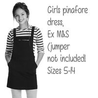 GIRLS PINAFORE,DUNGAREE DRESS SIZES 5-14 EX M&S COTTON RICH  NEW