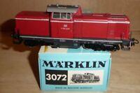 Märklin 3072 H0 Diesellok V 100 2215 der DB Epoche 3 sehr gut erhalten in OVP