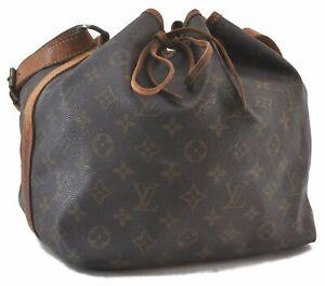Authentic Louis Vuitton Monogram Petit Noe Shoulder Bag M42226 LV C3741