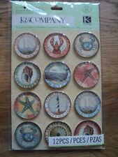 K & Co Tim Coffey Travel Rondel Grand Adhesions Stickers