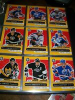 2017-18 O-Pee-Chee Hockey card Master set 1300 cards, Top Ten, playing cards etc