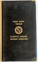 Vintage Engine Service Time Book, Brotherhood of Locomotive Engineers 1983
