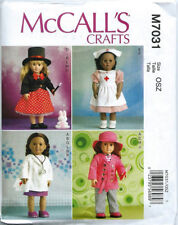 """McCall's Pattern 7031 CLOTHES FOR 18"""" DOLL costumes doctor nurse magician rabbit"""
