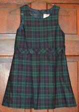 NEW Land's End Plaid Uniform Jumper Dress Blue & Green Size 6 - Evergreen