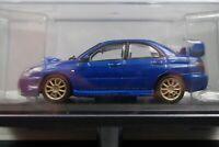 Subaru Impreza WRX STI 2004 Blue 1/43 Scale Box Mini Car Display Diecast Vol 97