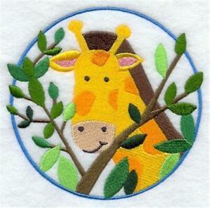 "Machine Embroidered Applique Peek a Boo Giraffe Size 3.87"" x 3.87"""