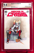 HARLEY QUINN PGX 9.8 NM/MT Near Mint - Original Sketch Cover by VICTRA!!!
