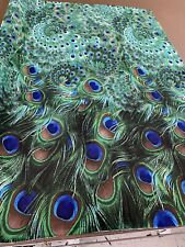 Chiffon Korean fabric . Peacock Print