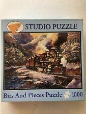 Peter Bradshaw: American Trains 1000 Pc Studio Puzzle Bits & Pieces 20 x 27 Used