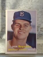 1957 Topps  # 18 Don Drysdale RC Ex-Mt Very Nice Card Rookie