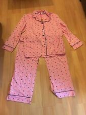woman's pink pj's with spots  size 14-16