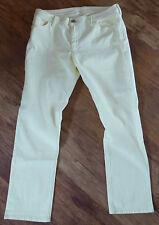 Men's BANANA REPUBLIC jaune citron stretch coupe droite jeans taille 30 W x 29.5 L
