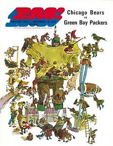 1970 12/13 football program Green Bay Packers v Chicago Bears VG