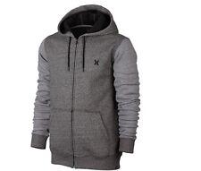 Hurley Hoodie Full Zip Sweatshirt Men's Size Large Fleece Hoodie Dark Gray NEW
