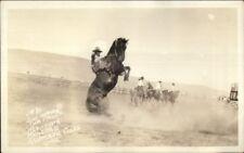 Klamath Falls OR Cowboy Rodeo 1929 Indian Congress Real Photo Postcard #1