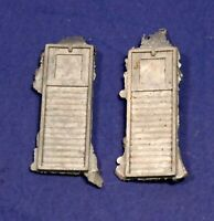 Lot of 2 Cast Metal HO Scale Caboose Tool Boxes / Detail Parts & Pieces