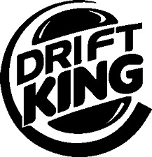 DRIFT KING Funny Car Window Bumper JDM Vinyl DECAL sticker Winter Beater burger
