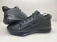 Nike Force Zoom Trout 5 Mens Baseball Turf Shoes Triple Black AH3374-002 Size 12