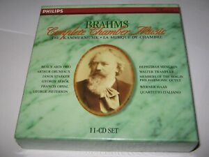 BRAHMS : COMPLETE CHAMBER MUSIC (1982-96) NEW/SEALED PHILIPS 11 DISC CD BOX SET