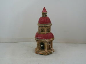 Vintage Aquarium Ornament - Castle Spire  by Fritz - Hand Painted