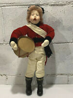 """Vintage Christmas Caroler Drummer Boy 18"""""""
