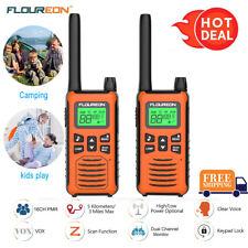 2pcs FLOUREON 16Ch Walkie Talkies PMR Two Way Radio 5KM Long Distance Interphone
