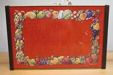 Vintage Retro Warm O Tray Salvatore Puglisi Red with Fruits & Vegetables