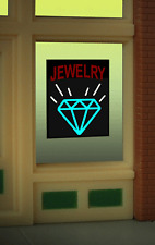 "Jewelry Store Model Window Sign -Can Be Trimmed As Small As .0.9"" W X 0.6"" T"