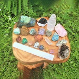 Crystal Kit 22 Pcs Natural Rough Stones Protection Healing Sets