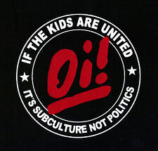 IF THE KIDS ARE UNITED Patch / Aufnäher Neu Punk Oi Punkrock Skinhead Subculture