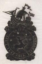 Ex Libris test print Dirk Govert van Luijn : Opus 50a, M.E.L. Lucassen ...