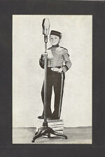POSTCARD:  PHILIP MORRIS TOBACCO ADVERTISING - LITTLE BELLHOP with MICROPHONE