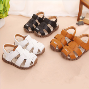 Kids Boys Girls Closed Toe Summer Sandals Lightweight Toddler Walking Shoes Size