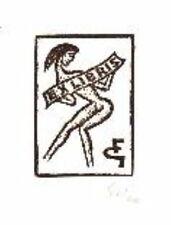 EXLIBRIS linolschnitt ORIGINALE Danza Donna x3 65 F firmato grickschat BOOKPLATE